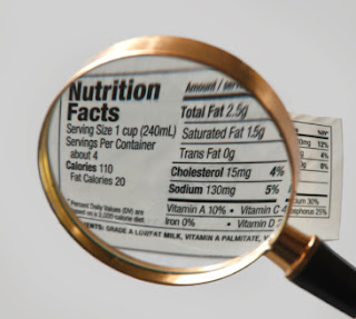 Watching calories from carbohydrates, proteins, and fats
