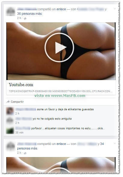 Publicaciones con etiquetas en Facebook MasFB