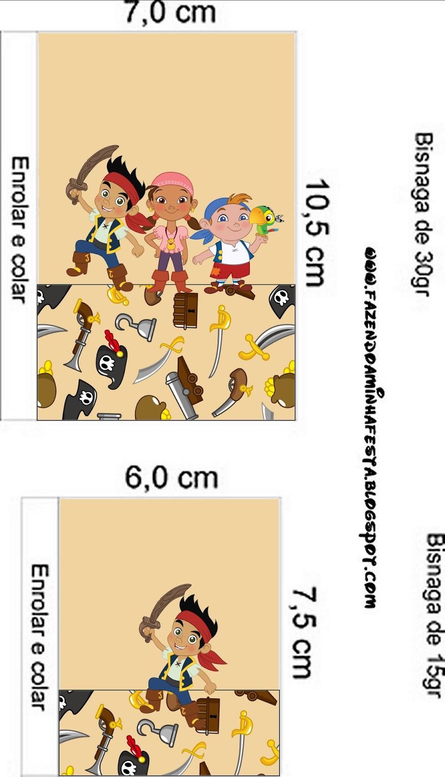 Etiquetas Imprimibles De Jake Y Los Piratas De Nunca Jam  S
