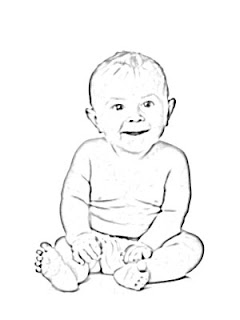 Happy Baby Sketch