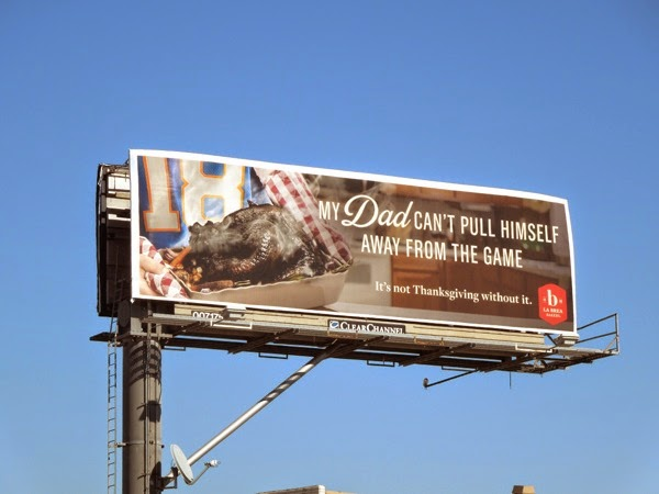 Burnt Thanksgiving turkey billboard