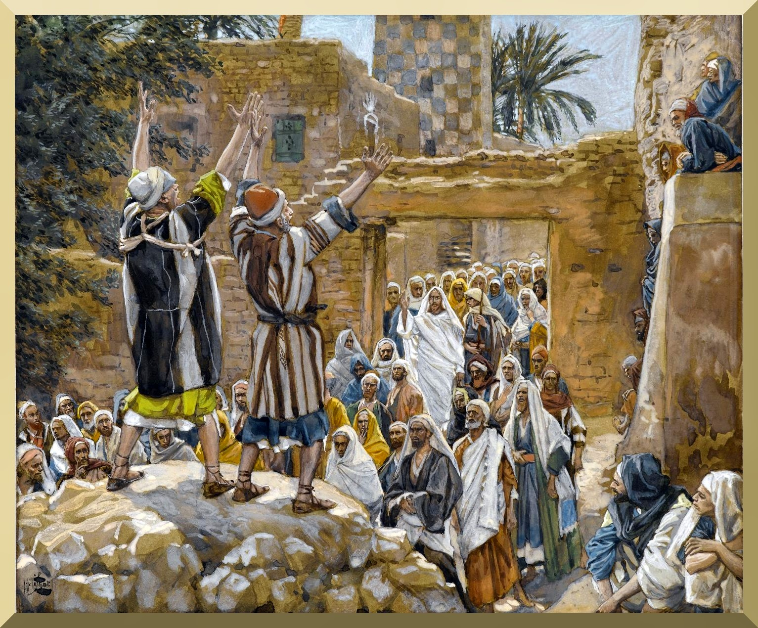 """The Two Blind Men at Jericho"" -- by James Tissot"