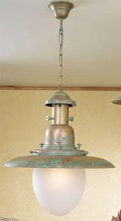 lampara de techo de laton