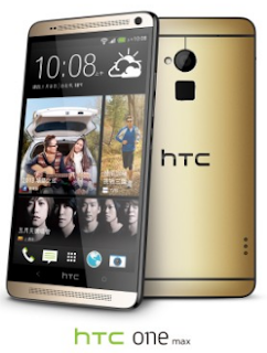 HTC One Max 16GB Model with Amber Gold Cover