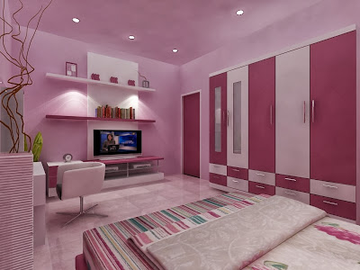 desain interior kamar tidur ungu desain rumah rumah