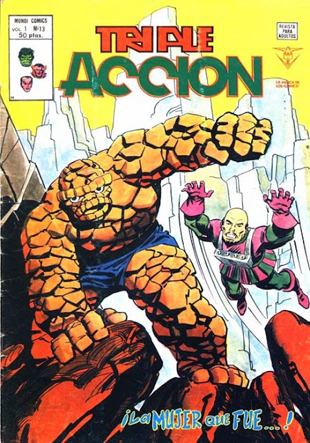 Portada de Triple Acción Volumen 1 Nº 13 Ediciones Vértice