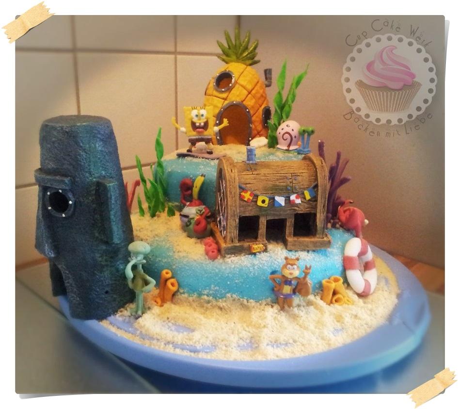spongebob kuchen backen