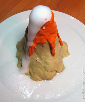 вулкан из соды и уксуса