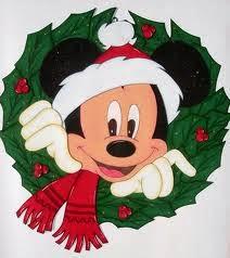 Mickey Mouse navidad corona
