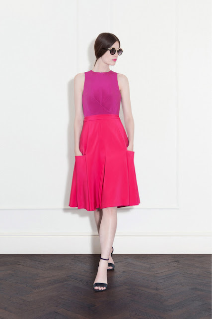 hot pink sun dress barbara casasola spring ready to wear 2013 fashion style halter top