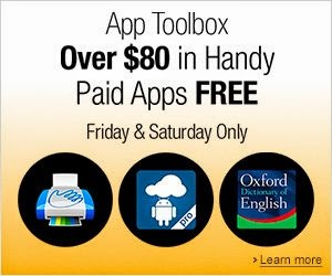 Amazon's Appstore giving away $80 worth of 17 premium apps for free
