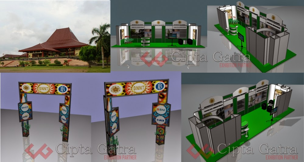 Pengerjaan stand booth pameran Cipta Gatra Exhibition Partner