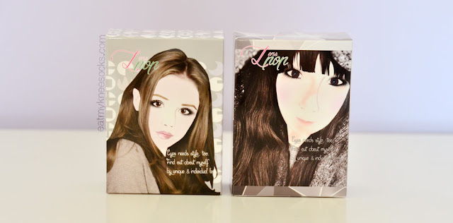 Klenspop's circle lenses come with adorable illustrated packaging, and each box has its own cute drawing.