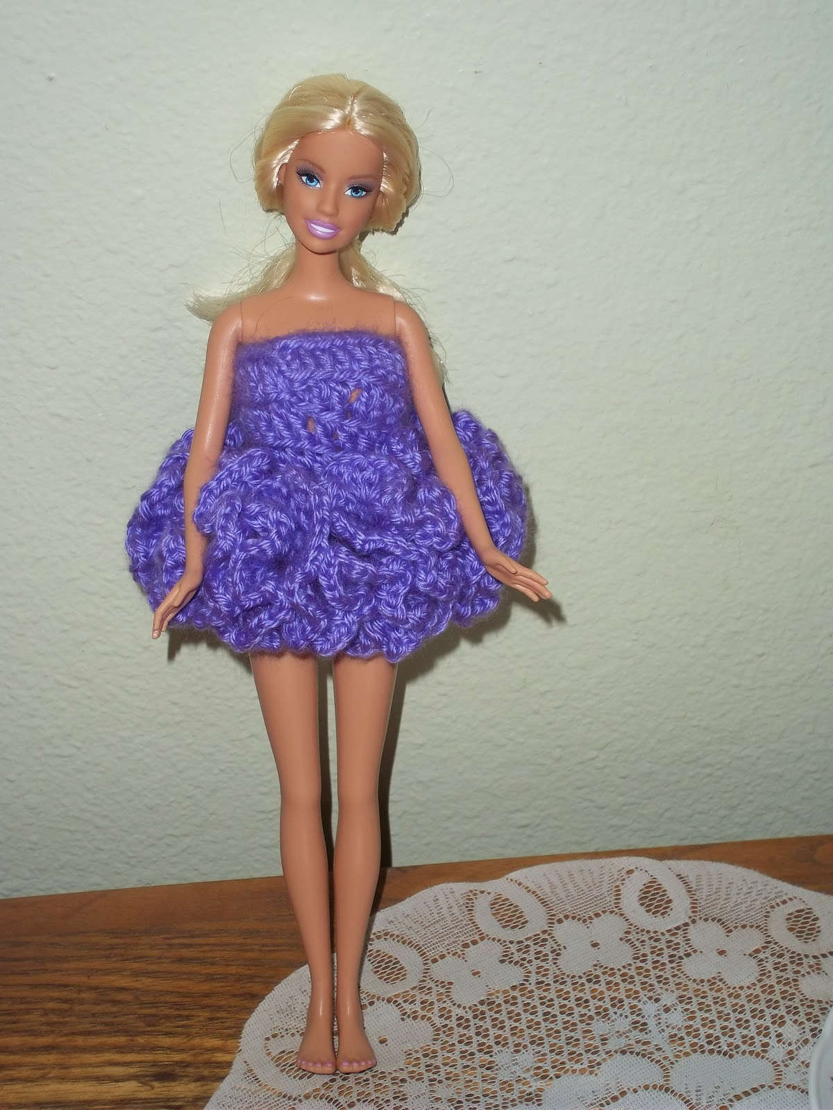 Mini or Long Crochet Barbie Dress | Free Crochet Pattern
