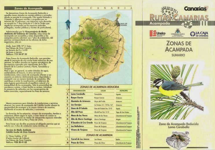 Guia de senderos y zonas de acampada en PDF del Canarias7