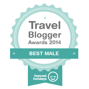 Winner 'Best Male' Travel Blogging Awards 2014