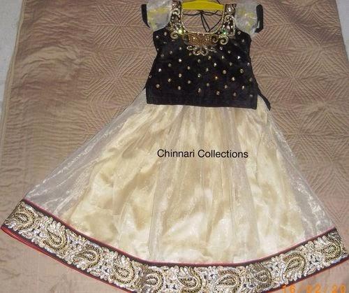 Cream and Black Classy Skirt