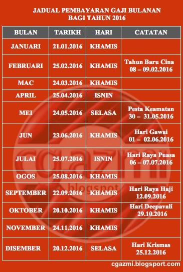 Salary Schedule 2016