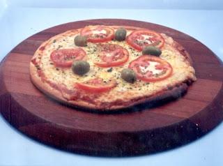 pizza de presunto e mussarela