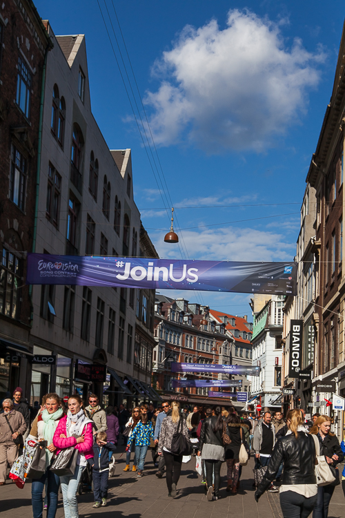 Amalie loves Denmark Städtereise Kopenhagen, Strøget im Sommer