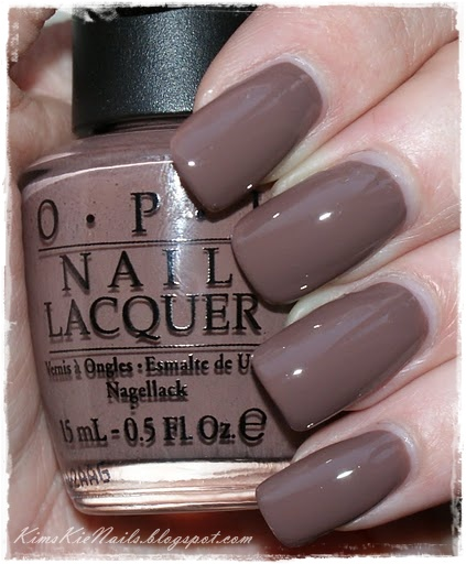 kimskie's nails opi over taupe