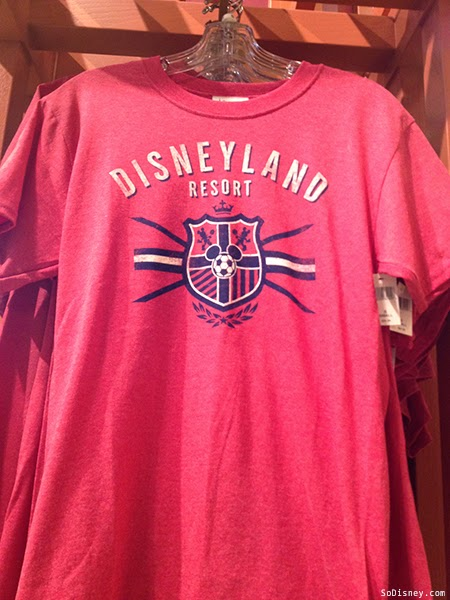Red Disneyland Soccer Shirt