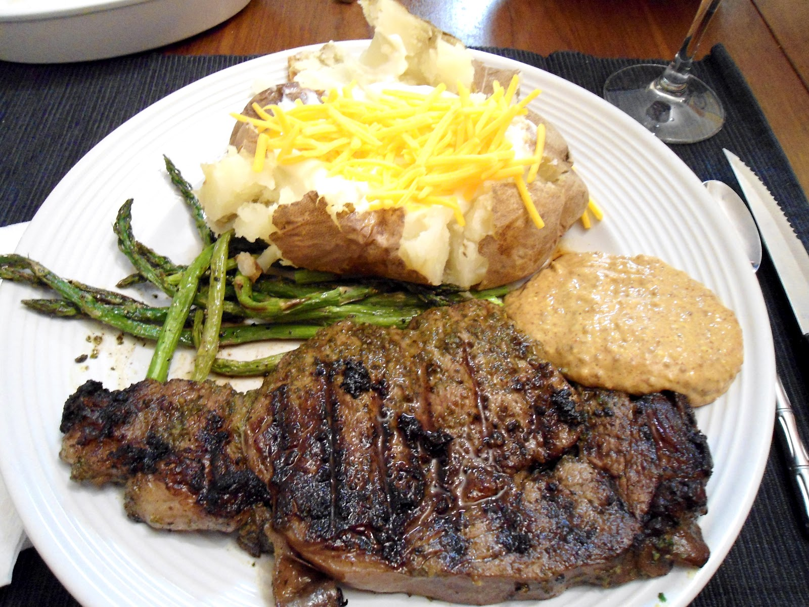 Serve With The Mustard Sauce, Asparagus And Baked Potatoes Yum It Was So  Good, I Seriously Ate The Entire Thing And Most Of The Baked Potato