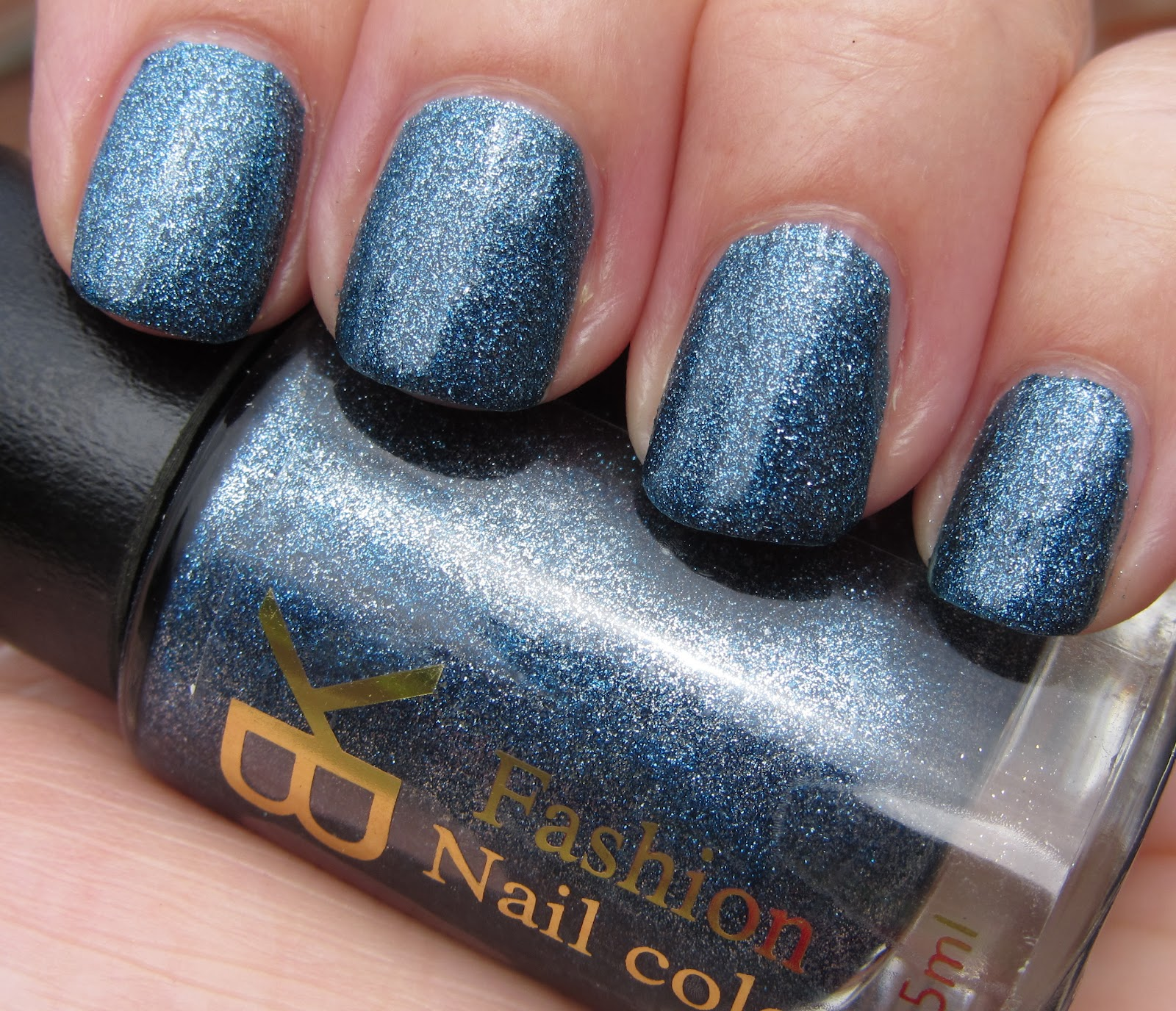Bk Fashion Nail Color Navy Blue Silver Shimmer 04 Swatches Review