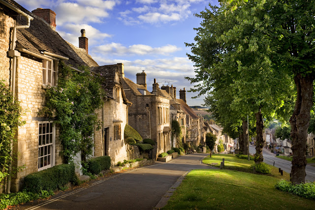 The Cotswold town of Burford in the morning sunlight by Martyn Ferry Photography