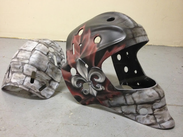 Airbrushing, Goalie Mask
