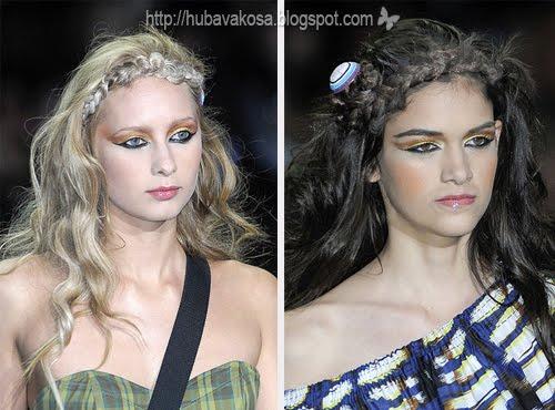 прически сплетени коси 2011