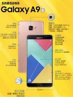 Samsung Galaxy A9 SPESIFICATIOIN
