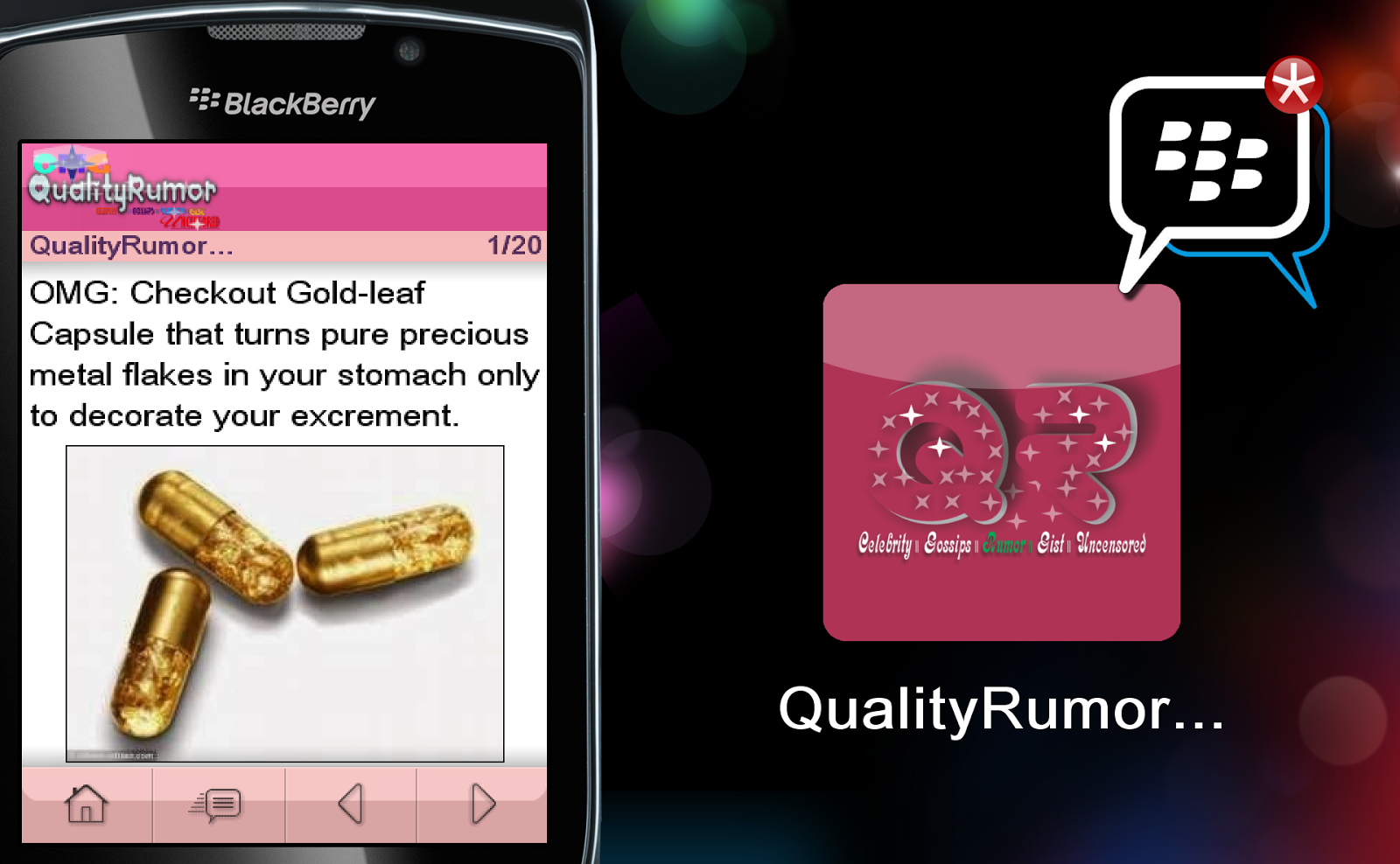 QualityRumor BB AppWorld
