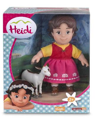 TOYS : JUGUETES - HEIDI  Heidi con Blanquita | Muñeca + cabra  Famosa 700012250 | Nueva Serie Television  A partir de 2 años | Comprar en Amazon España