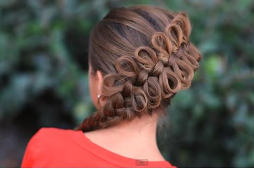 Cómo Hacer una Trenza con Lazos para Niña? : Tutorial de Peinados ...