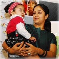 Jyothika and baby Stills