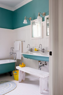 Beautiful bathrooms blue