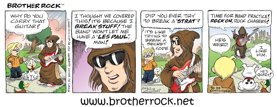 BROTHER ROCK COMIC STRIP -Drawn by Guy Gilchrist
