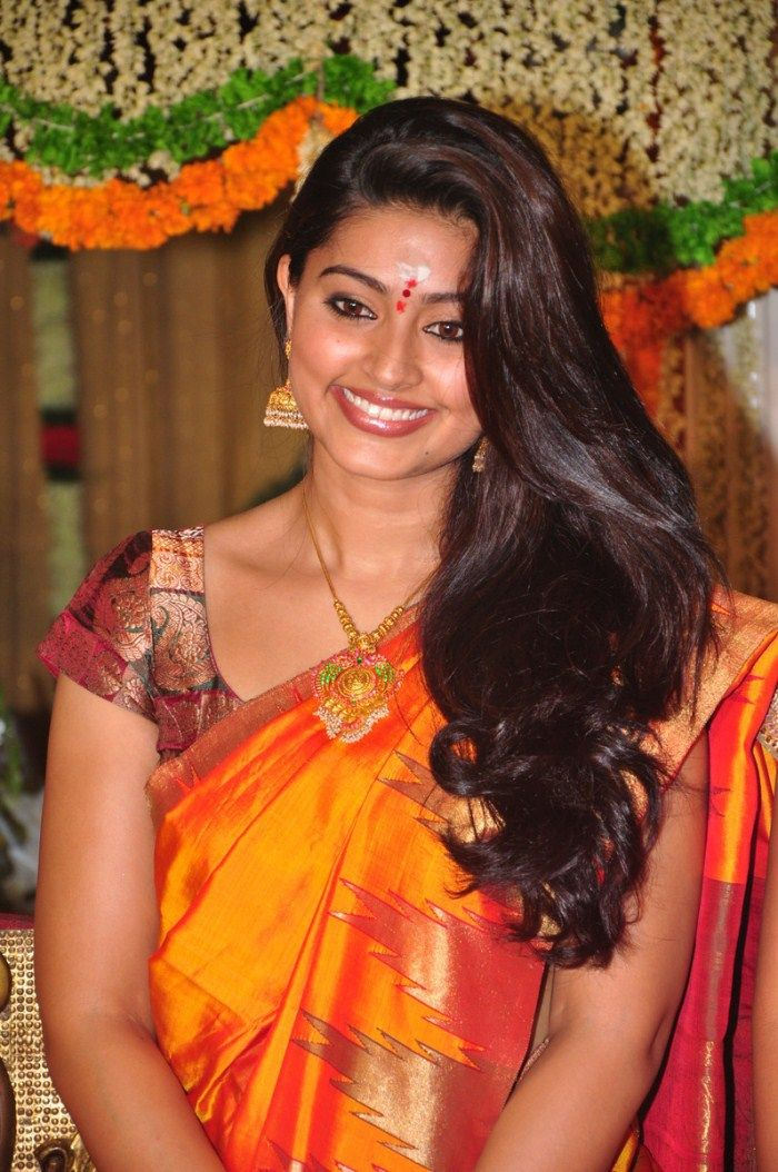 Sneha Hot Orange Saree Stills