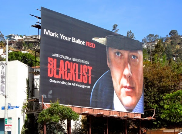 mark your ballot Red The Blacklist Emmy 2014 billboard