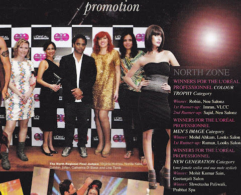 MU Virginia with her fellow judges at the L'Oreal Colour Trophy in Delhi