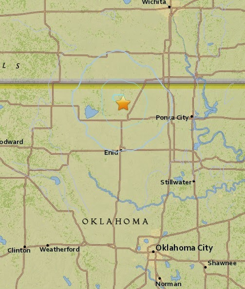 Magnitude 3.7 Earthquake of Medford, Oklahoma 2015-04-20