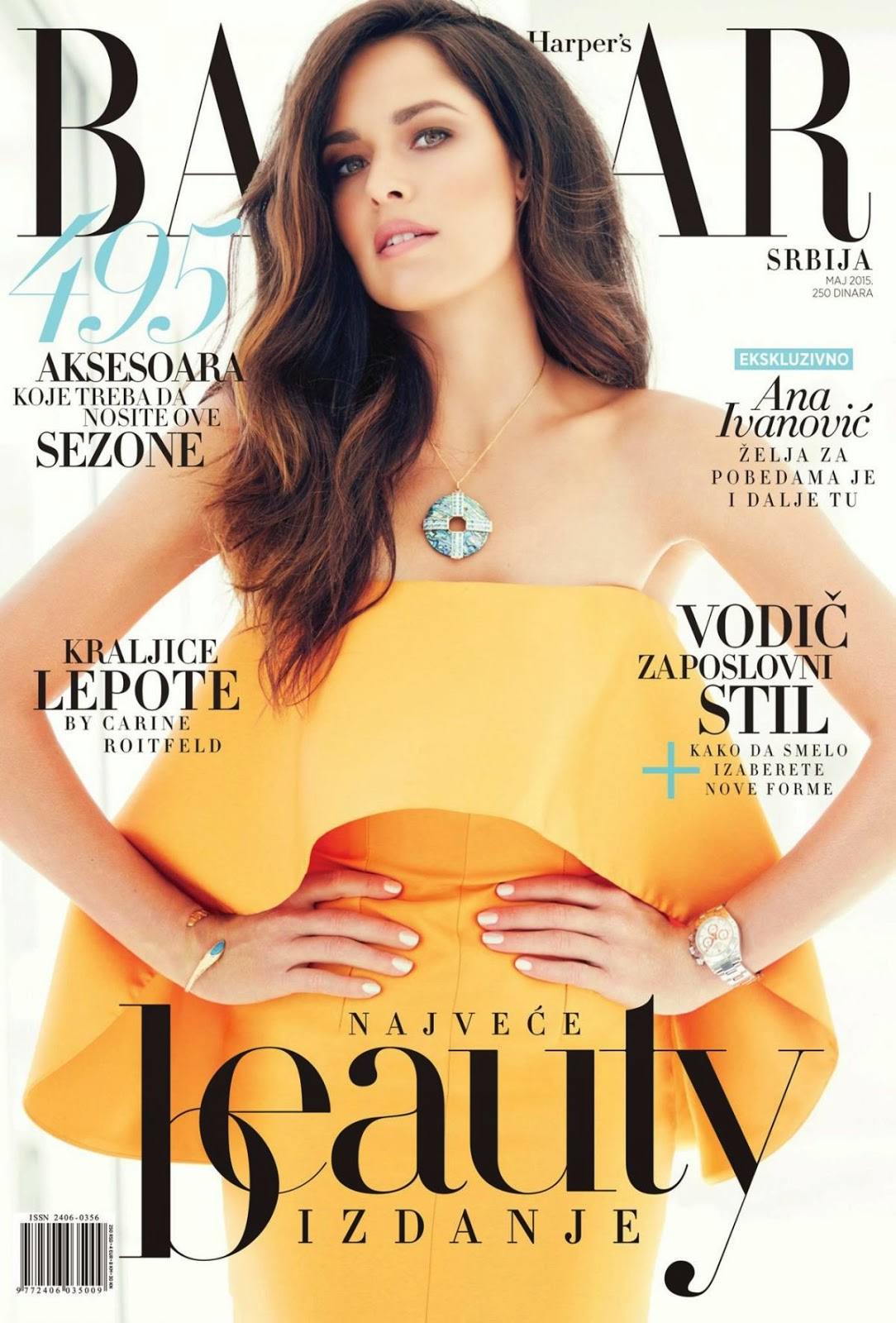 Ana Ivanovic is gorgeous for the Harper's Bazaar Serbia May 2015 cover