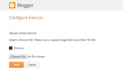 Add, Change, Replace and Remove Favicon in Blogger CMS