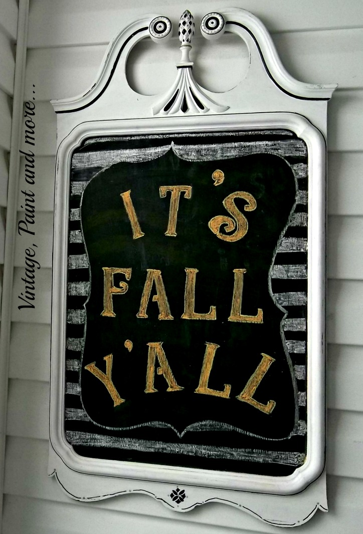 Vintage, Paint and more... painted fall chalkboard
