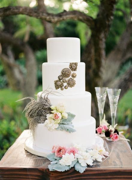торт для морской свадьбы элегантный стиль