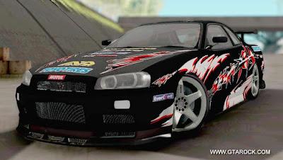 GTA SA - Nissan Skyline R34 GTR