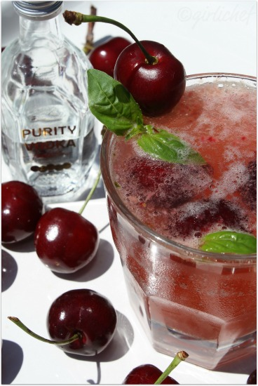 Cherry Basil Collins