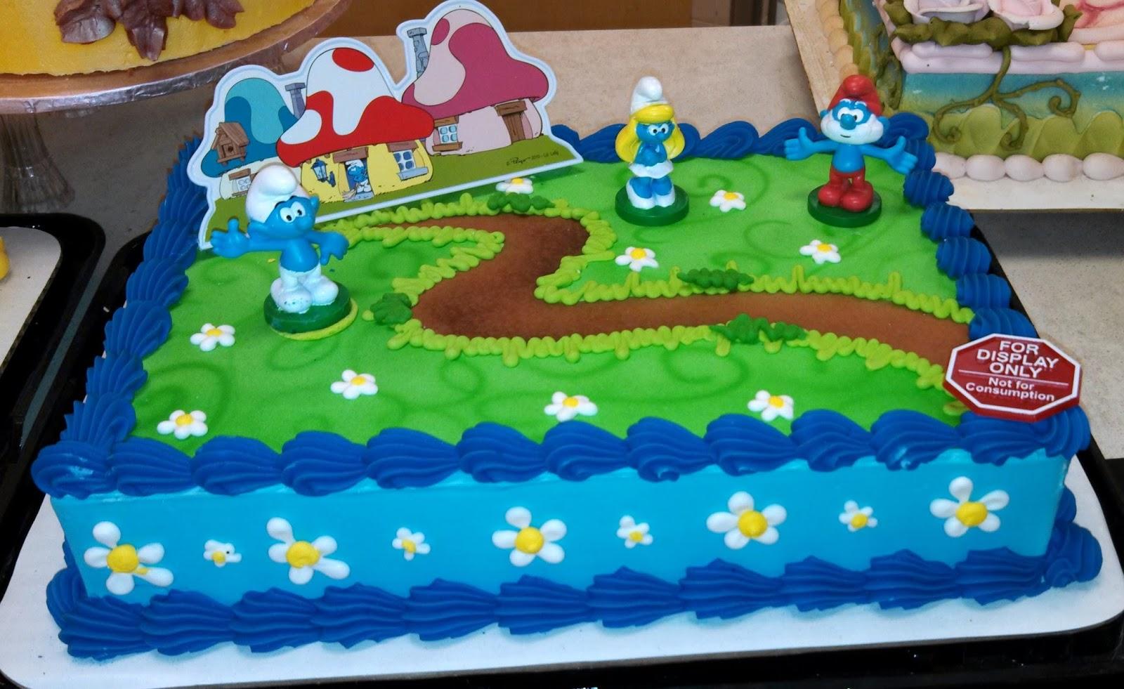 Smurf Birthday Cake Designs
