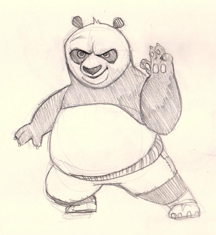 Kung Fu Panda Drawings